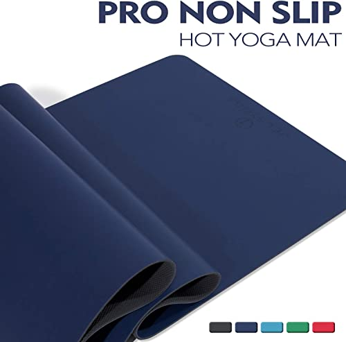 TENOL JELS Pro Non Slip Yoga Mat Eco Friendly Sweat Absorbent Odorless Hot Yoga Mat SGS Certified Material with Free Carrying Bag for Yoga 72 x26 x 1 5 Inch