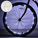 DIMY Outdoor Toys for 5-14 Year Old Boy, Bike Accessories Bike Wheel Light for Teen Boys Girls Gifts for 5-14 Year Old Boys Birthday Gifts White TTB06