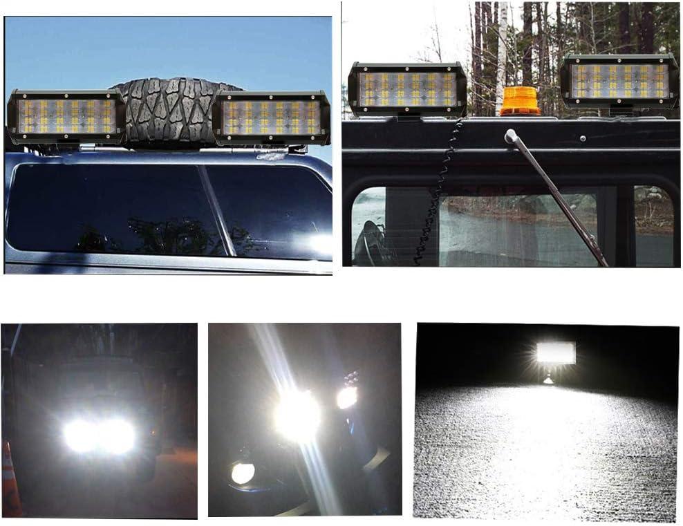 WANYIG LED Zusatzscheinwerfer 7 Inch 144W Arbeitsscheinwerfer Led 12v// 24v IP67 Wasserdicht Offroad Scheinwerfer Arbeitslicht New 4D Lens Designed 2 St/ücke