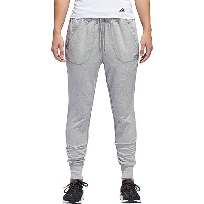 e12b10556 adidas Women's Sport ID Top Jogger Pants Medium Grey Heather Large ...