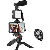 Kit de iluminação de vídeo LED, kit de vídeo Vlog da Andoer para telefone com tripé de mesa, suporte de telefone com…