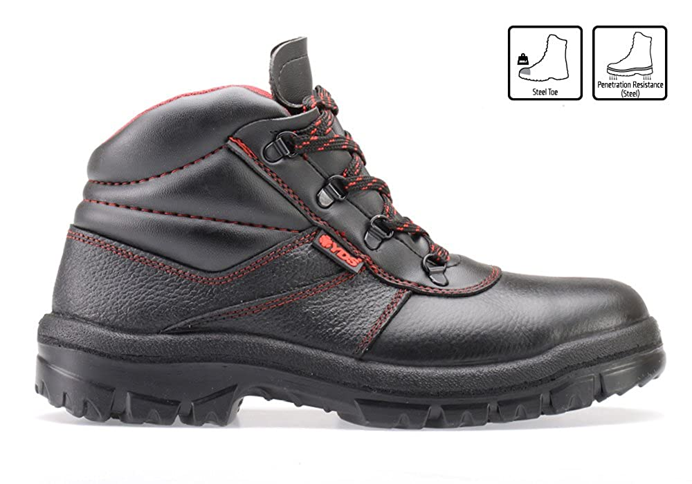 eaf98a95b8e RUGGEDIM YDS Safety Boots with Steel Toe | Anti-Static, Shock Absorbent  Work Boots
