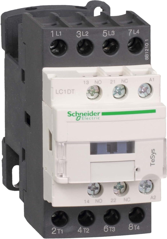 Schneider Electric LC1DT40FD Contactor 40A 110V DC, Cont. 40A4Pl 110Vdc