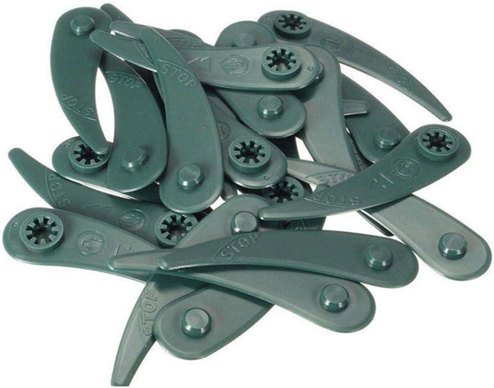 Farbplastik-Trimmer-Ersatzklingen F/ür Bosch Durablade-Trimmer Art 26-18Li Art 23-18 Li Heoolstranger 25PCS Rasenm/äherkopf ABS M/ähkopf