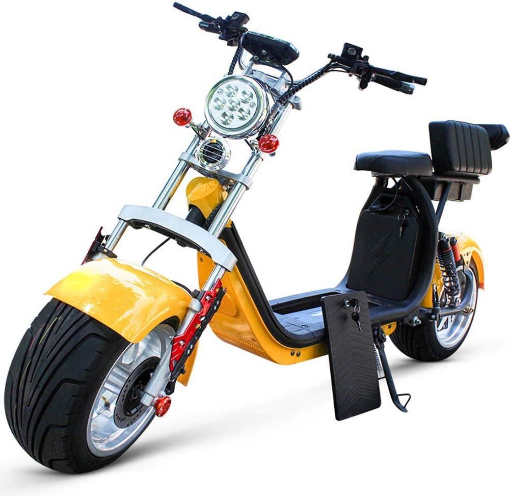 L&F Adulto 60V 12AH 1500w eléctrico Citycoco Halley Vespa Harley