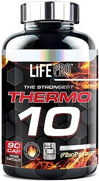 Life Pro Thermo 10 90 Cápsulas | Pastillas Quemagrasa | Perder peso sin esfuerzo | Perder peso rápidamente | Quemagrasas potente y rápido