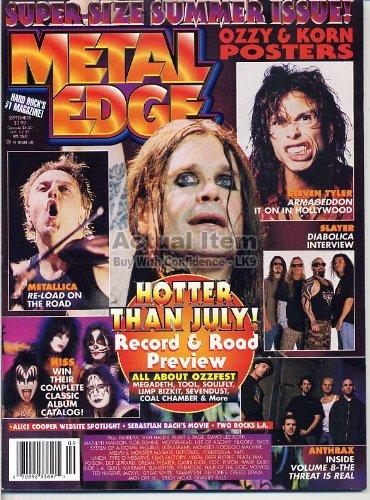 1998 Collectors Edge - Metal Edge Magazine KORN Ozzy VAN HALEN Aerosmith PANTERA Megadeth METALLICA L. A. Guns September 1998 C