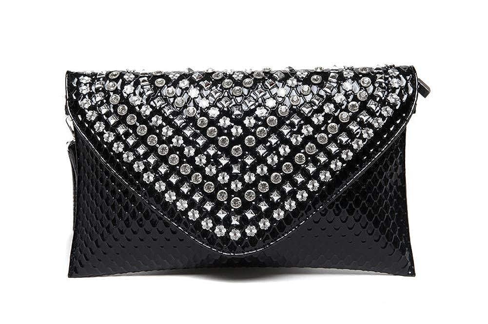 Women Envelope Evening Bag,Oversize Diamond-encrusted Clutch Bag Elegant Wedding Party Evening Prom Evening Handbags