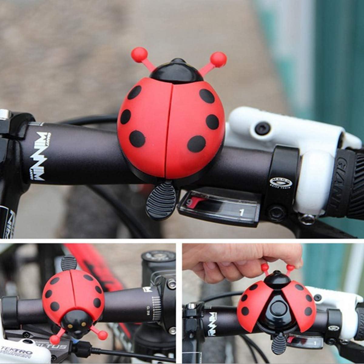 WENTS Fahrradklingel Laut Fahrradklingel Netter Marienk/äfer Fahrradklingel Fahrrad Alarm Bike Meta