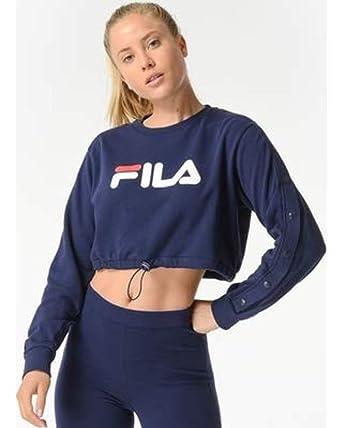 d99fa5d1e7 Fila Women's Charlotte Crop Sweatshirt & Cooling Towel Bundle at ...