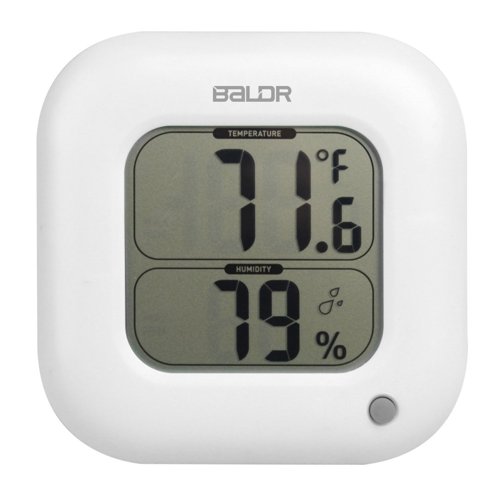 BALDR FBA_B0323H Square Thermometer and Hygrometer, Blue