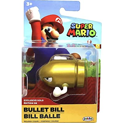 World of Nintendo Gold Bullet Bill Super Mario 2.5 Action Figure: Toys & Games
