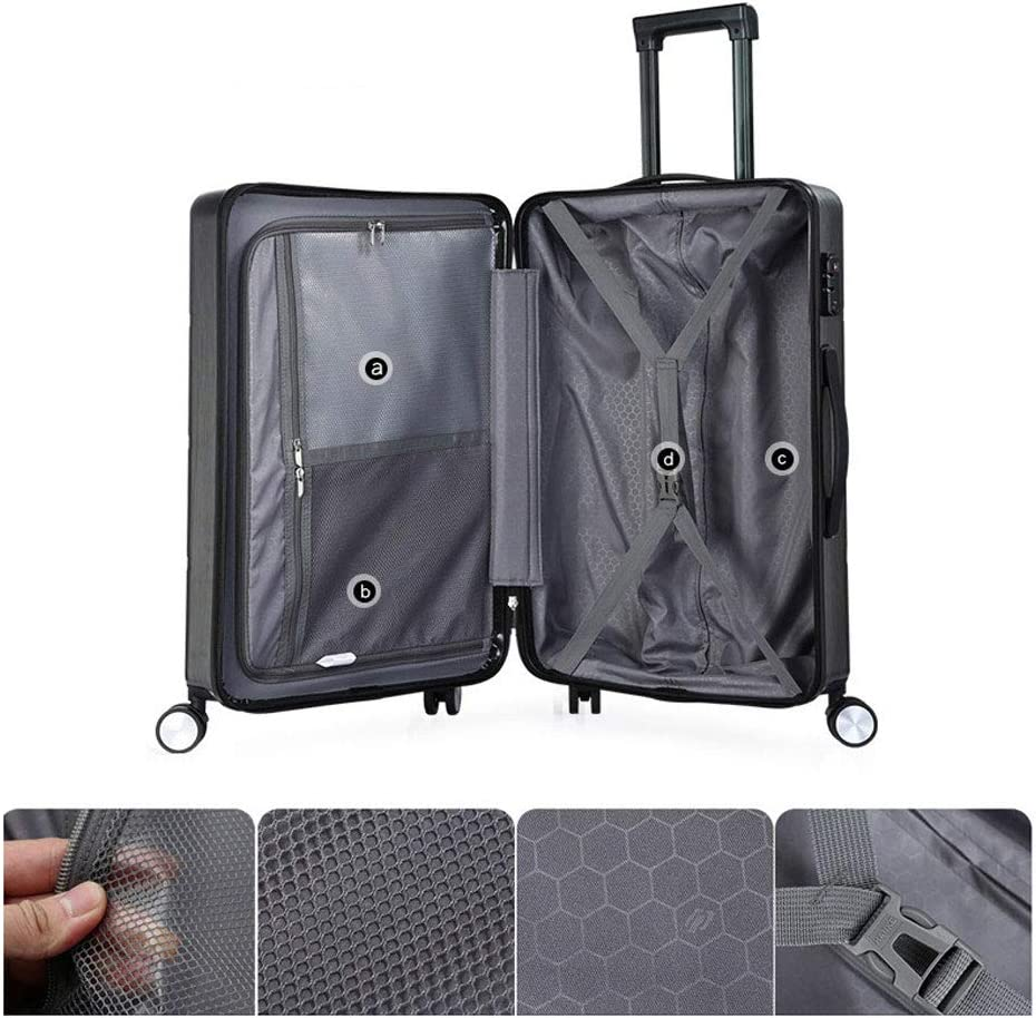 Reasonable partition 2 Stylish Small Fresh Universal Wheel Student Large Capacity Boarding Suitcase TSA Customs Code Lock YD Luggage Set Trolley case ABS//PC 3 Colors