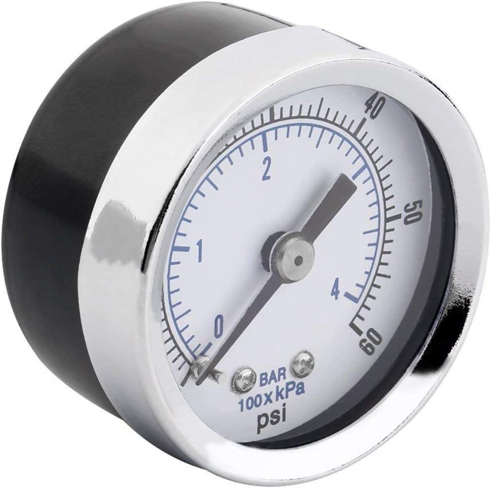 "Hydraulic Pressure Gauge 0-60 PSI Back Mount 1.5/"" 5 pc 1//8/"" NPT Air Compressor"
