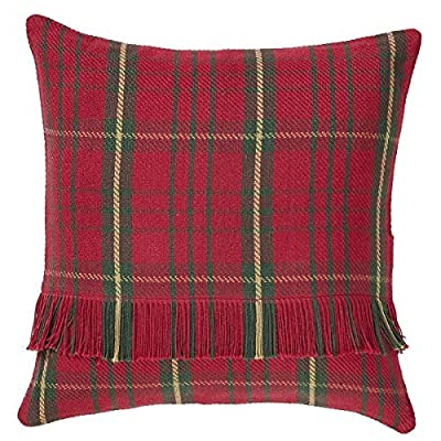 "VHC Brands Jasper 16"" x 16"" Woven Pillow Case in Green and Tan - Finish: Red, Tan, Green Materials: 100% Cotton Shell Single fabric - living-room-soft-furnishings, living-room, decorative-pillows - 61ewLK2LSSL. SS400  -"