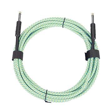 RiToEasysports Cable de Audio, IRIN 6m / 20ft 6.35mm Guitarra Cable de Audio Macho