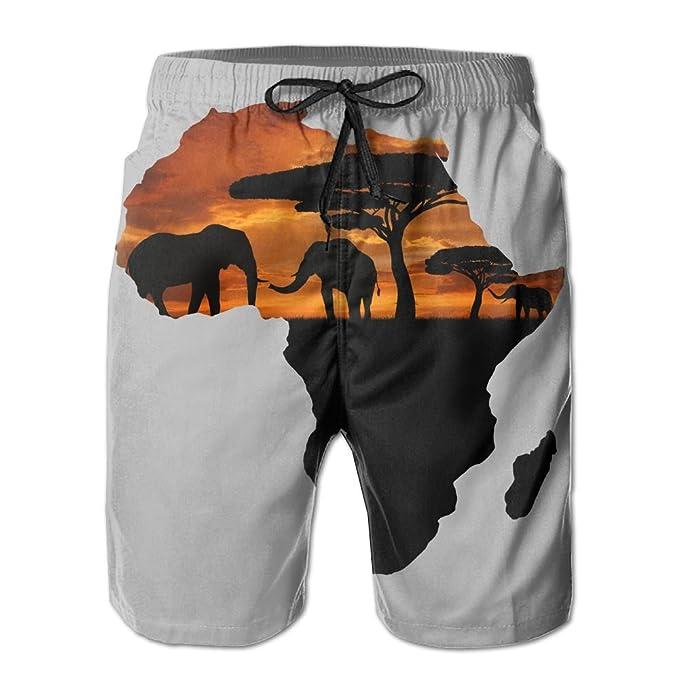 123c3e993809b Amazon.com: SWEET-YZ African Safari Map Men's Board Shorts Beach Shorts  Swim Trunks: Clothing