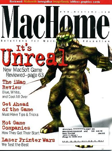 MacHome November 1998 Unreal Game Review
