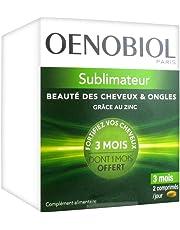 Oenobiol Sublimateur Beauté des Cheveux & Ongles 180 Comprimés dont 1 Mois Offert