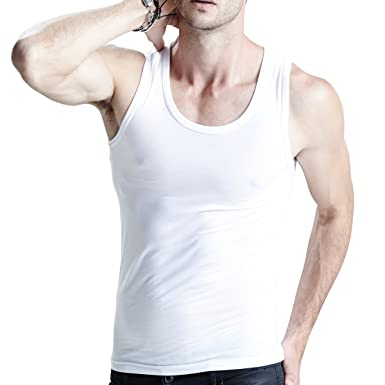 6b8d957df1d1e Feelvery Men s Undershirts Cotton Spandex Classic A-Shirts (3-Pack) - Small