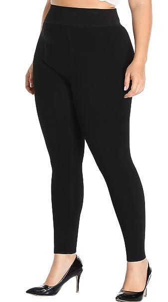 f55a401f0f8 NEOSAN Winter Women Velvet Lined Leggings Threaded Warm Compression  Slimming Pants Plus Size Black