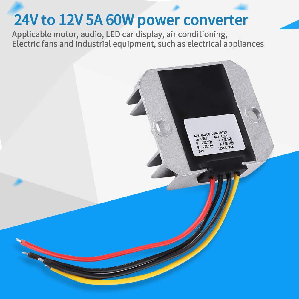 Power Converter,DC-DC 24V To 12V Voltage Step Down Module Power Supply Voltage Regulator 5A 60W