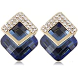 """Young & Forever """"Paradiso Collection"""" Stay Brilliant AAA CZ Emerald Austrian Crystal Stud Earrings Daily / Party Wear Stylish Fashion Earrings for women / Girls"""