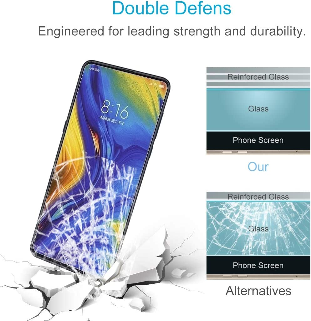 Screen Protector Film 100 PCS 0.26mm 9H 2.5D Explosion-Proof Tempered Glass Film for Xiaomi Mi Mix 3 Tempered Glass Film