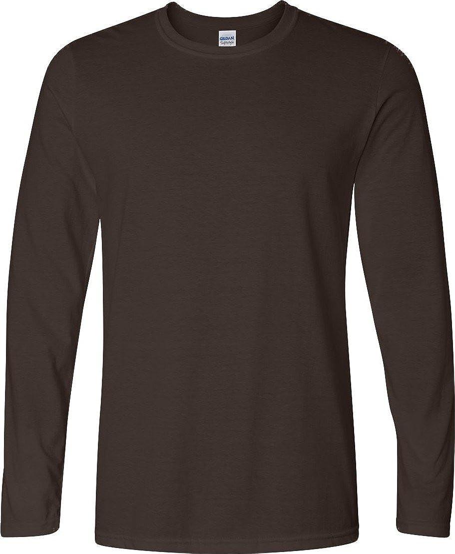 Gildan Softstyle 4.5 oz Long-Sleeve T-Shirt XL DARK CHOCOLATE