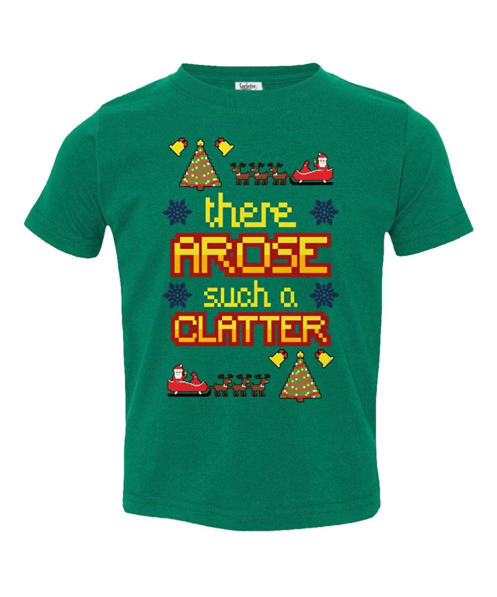 Societee There Arose Such A Clatter Christmas Cute Little Kids Girls Boys Toddler T-Shirt