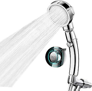 Handheld Shower Head with Hose   3 Spray Settings High Pressure