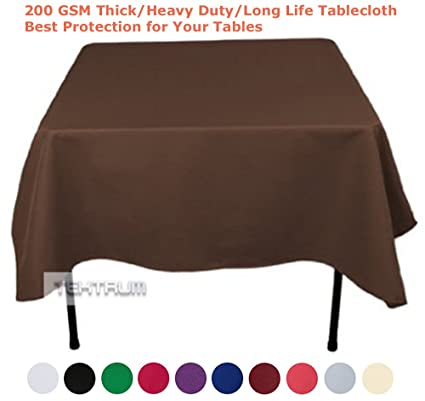 TEKTRUM 70 X 70 INCH 70u0026quot;X70u0026quot; SQUARE POLYESTER TABLECLOTH    THICK/HEAVY