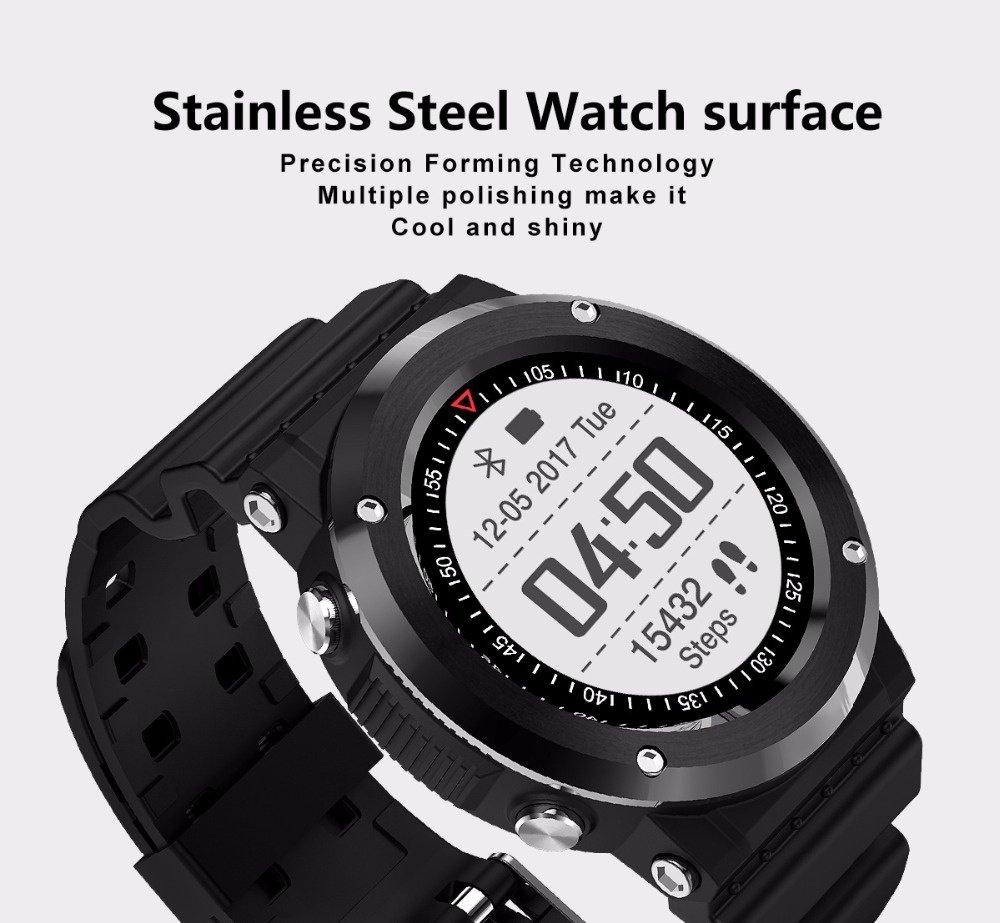 Amazon.com: CN3 Bluetooth GPS MT2523 Smart Watch Sport Heart Rate Smartwatch reloj inteligente Anti-lost for iPhone Android PK EX18, Black: Sports & ...