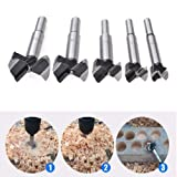 Stainless Steel Hand Tool Countersink Drill Bits, 16-50mm Diameter Carbide Alloy Drill Bit Hole Saw Woodworking Metal Cutting Tool - 30mm