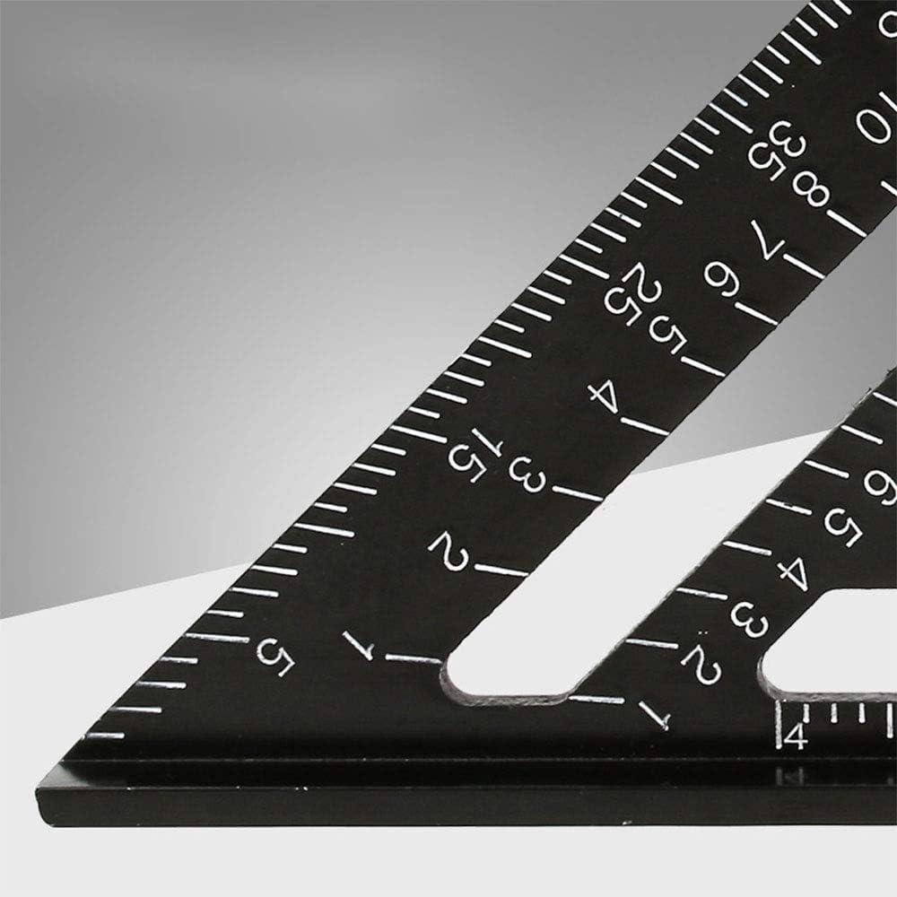 metrisch 17,8 cm schwarzes Aluminium-Legierung Quadratischer Winkelmesser Schreiner hochpr/äzises Layout-Messwerkzeug f/ür Ingenieure Dreieck-Lineal