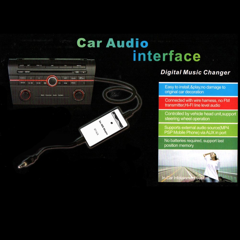 Amazon.com: Car Audio MP3 CD 3.5mm AUX-IN Adapter Fit Acura CL EL MDX RSX TL  Honda Accord Civic CRV Odyssey Pilot Prelude S2000 Insight: Car Electronics