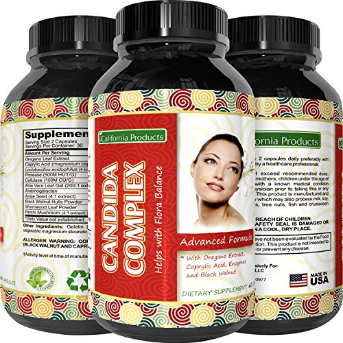 Natural Candida Cleanse Supplement Detoxifies and Eliminates Candida Overgrowth A Probiotic Blend for Men and Women that Improves Digestion and with Antifungal Properties 60 Capsules