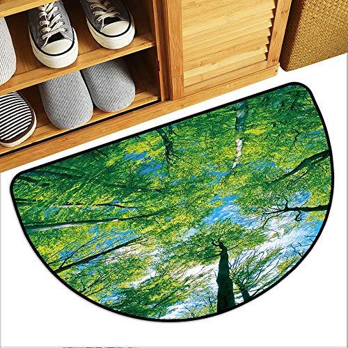 Simple Modern Carpet Tree Canopy Semi-Circular Floor Mats W31xH19 INCH (Circular Canopy Semi)