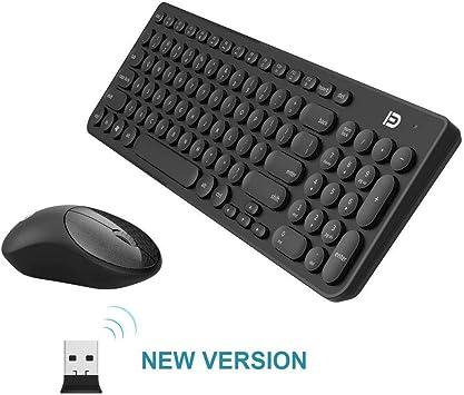 Juego de teclado y ratón inalámbricos ultra delgado, 30 ...