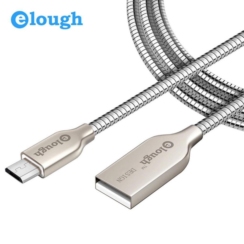 Línea de Transmisión de Datos del Metal del Cable del USB del 1M / Cable de Carga Cable de Datos ultra Durable del Muelle de la Aleación del Cinc para el Teléfono