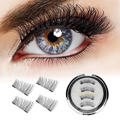Magnetic Eyelashes Dual False Eyelashes – Seagull CRA19 3D False Lash Extensions For A Dramatic Effect, Glue-Free Magnet Adhesive, Fake Lashes With A Natural Look, Reusable And Non-Irritating