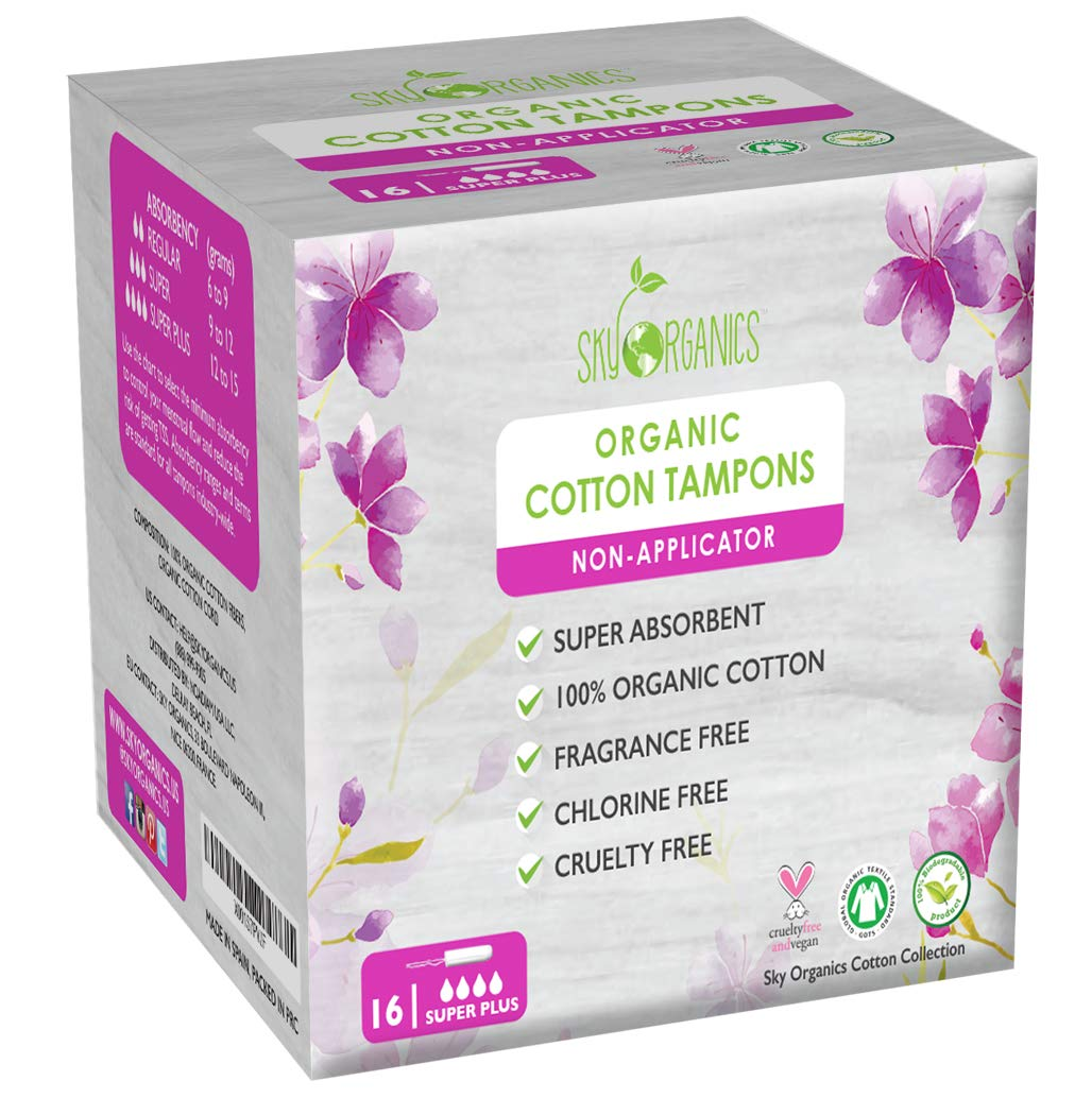 Amazon Com Organic All Natural Cotton Tampons With