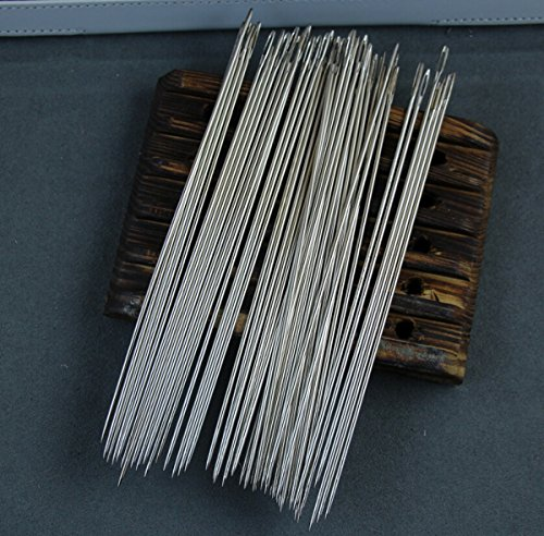 - WellieSTR 50 Pack 6 Inch(15cm) LONG UPHOLSTERER NEEDLES/Long Simple Needles Large Eye Needle for Sewing Act Crafts, Upholster ~ 150mm Long x 1.6mm thickness--Wholesale