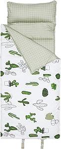 Hi Sprout 100% Cotton Kids Toddler Lightweight and Soft Nap Mat (Cactus)