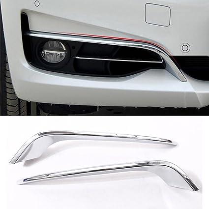 ABS cromado tiras de luz antiniebla delantera Juego de tapacubos de 2pcs coche accesorios
