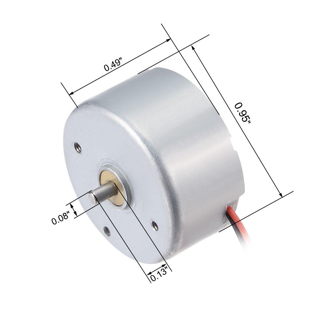 1700-7300RPM 1.5-6.5V High Torque Cylinder Electric Mini DC Motor LW