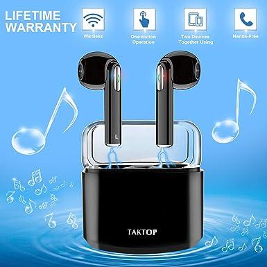 6481e257e79 Auriculares Bluetooth, Auriculares Inalámbricos In Ear Sonido Estéreo con  Caja de Carga TWS Auriculares Deporte