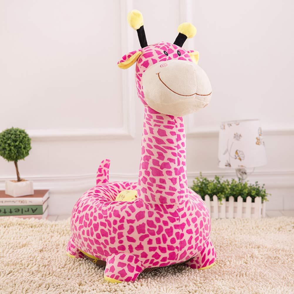 V&K Sedia Divano Bambino, Peluche Giraffa Bambini Divano Morbido Relax Bracciolo per Il Salone di Gioco-A 50 * 45 * 80cm