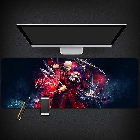 Devil May Cry Game Alfombrilla de ratón periférica Dante para Ordenador portátil, Alfombrilla de Mesa