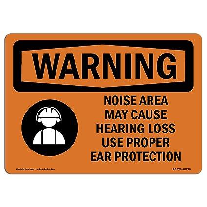 Letrero de advertencia de Osha - Uso de área de ruido ...